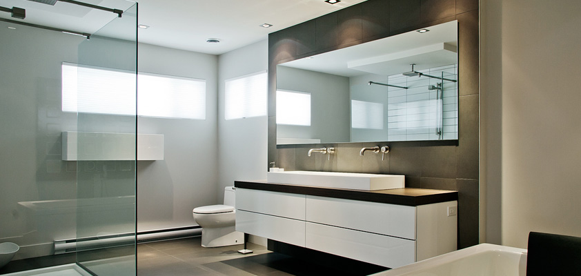 Bathrooms ac cuisines for Photo sdb moderne